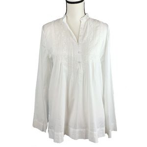 Ralph Lauren White tunic embroidered top